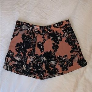 Rebecca Taylor Pink Tropical Silk Shorts Size 6